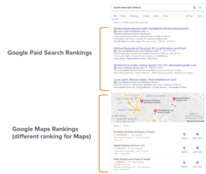 Blog search results maps